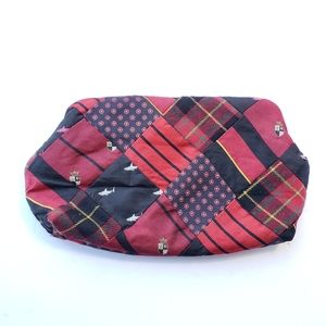 J. Crew quilted patchwork clutch w magnet closure